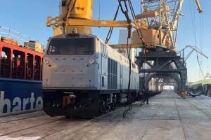 У Чорноморськ прибула партія американських локомотивів для Укрзалізниці