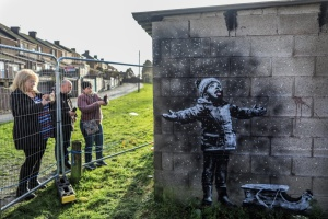 """Гаражне"" графіті Бенксі купили за шестизначну суму"