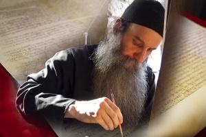 Текст Томоса и иконописец Лука со Святой горы