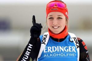 Немка Пройс выиграла масс-старт на домашнем этапе Кубка мира по биатлону