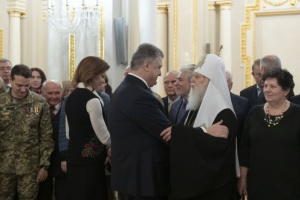 Poroshenko awards Hero of Ukraine title to Filaret