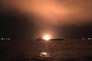 Судна, що загорілися у Керченській протоці, незаконно поставляли газ до Сирії — МінТОТ