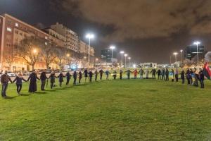 Живий ланцюг соборності утворили українці у центрі Лісабона