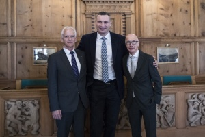 Кличко с мэрами Давоса и Сент-Галлена обсудил внедрение smart-технологий