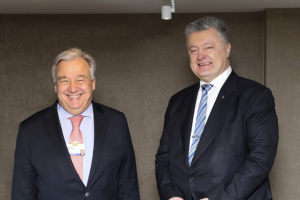 Poroshenko, Guterres discuss prospects for deployment of UN mission in Donbas