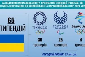Тренеры украинских олимпийцев и паралимпийцев будут получать правительственные стипендии