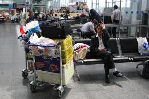 Пассажиропоток украинских аэропортов в I квартале сократился на 54,3%
