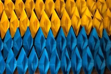 Ukrainians in Azerbaijan join 'Yellow and Blue Ship' flash mob
