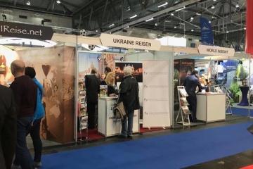 Stand ucraniano presentado en la mayor feria turística austriaca