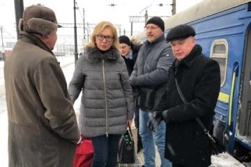 Ukrainische Ombudsfrau Denisowa in Moskau eingetroffen – Foto