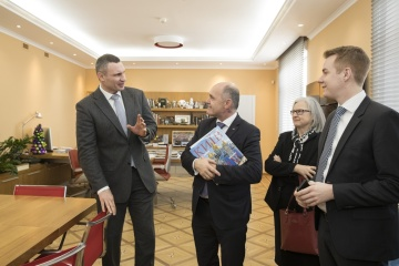 Mayor Vitali Klitschko meets with President of Austrian National Council Wolfgang Sobotka