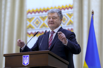 Poroshenko thanks Estonian, Lithuanian, Polish FMs for support of Ukraine