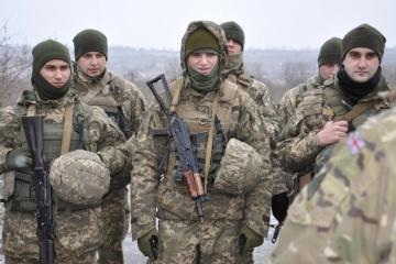 ウクライナの海兵隊、英国指導官による訓練開始