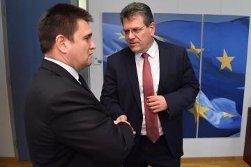 Klimkin, Sefcovic meet in Brussels