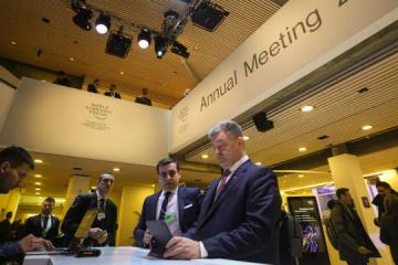 Poroshenko has met with ten world leaders at World Economic Forum in Davos. Photos