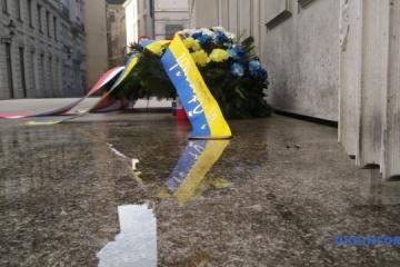 Ambassadors of Ukraine and Poland commemorate Holocaust victims in Vienna. Photos