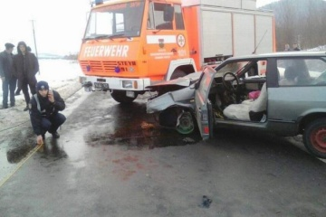 Unfall mit fünf Autos in Transkarpatien: Autostraße Kyjiw-Tschop gesperrt - Fotos