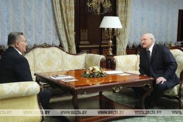 マルチューク三者コンタクト・グループ宇代表、ルカシェンコ・ベラルーシ大統領と会談