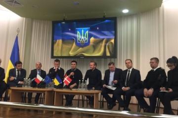 Los titulares de Exteriores de Ucrania, Dinamarca y la República Checa visitaron la región ucraniana adyacente al mar de Azov