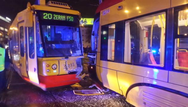 В Варшаве лоб в лоб столкнулись трамваи - 13 пострадавших