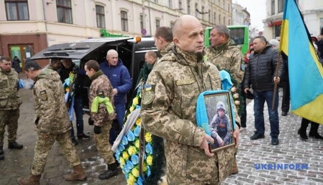 В Черновцах попрощались с погибшим на востоке военным