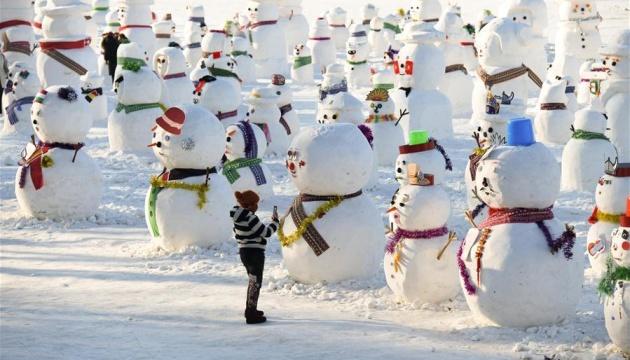 У Харбіні оселилися 2019 сніговиків