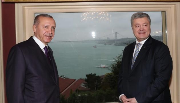 Порошенко поблагодарил Эрдогана за