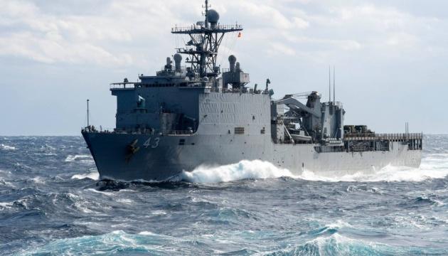 Десантный корабль ВМС США вошел в Черное море