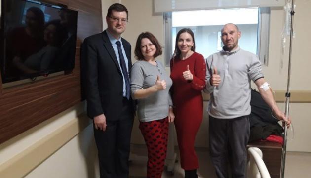Українська громада відвідала у Самсуні врятованих українських моряків