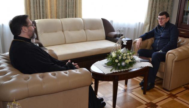 Луценко обсудил с главой УГКЦ борьбу с коррупцией