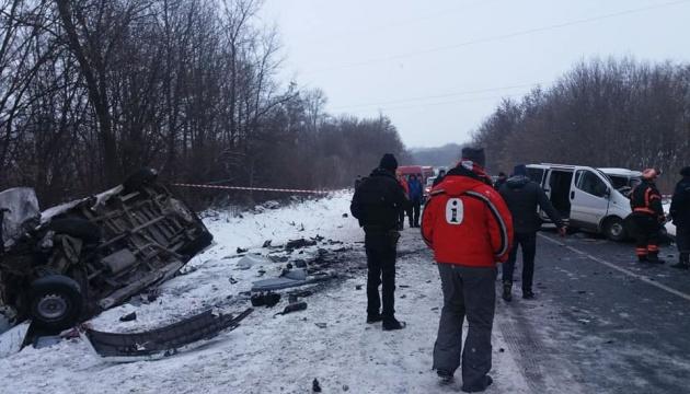 На Буковині зіткнулися два мікроавтобуси: один загиблий, шестеро поранені