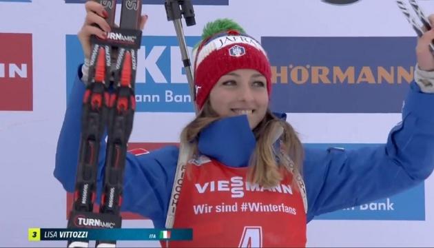 Итальянка Виттоцци выиграла спринт на IV этапе Кубка мира по биатлону; Вита Семеренко - шестая