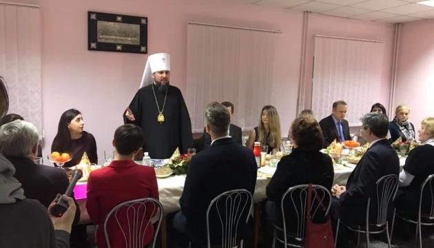 Епіфаній зустрівся з родинами українських політв'язнів