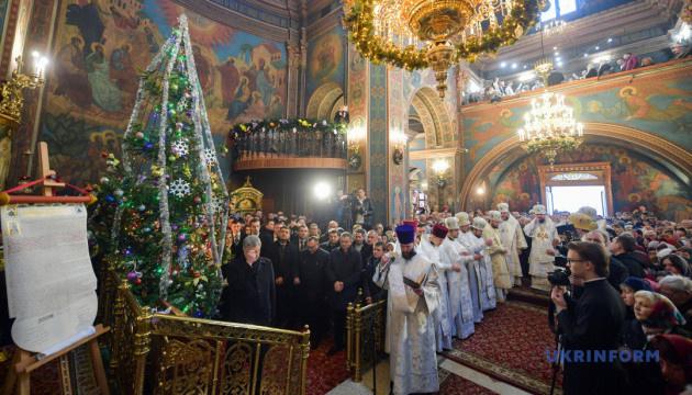Порошенко прибув до Вінниці на святкову літургію з нагоди отримання Томосу