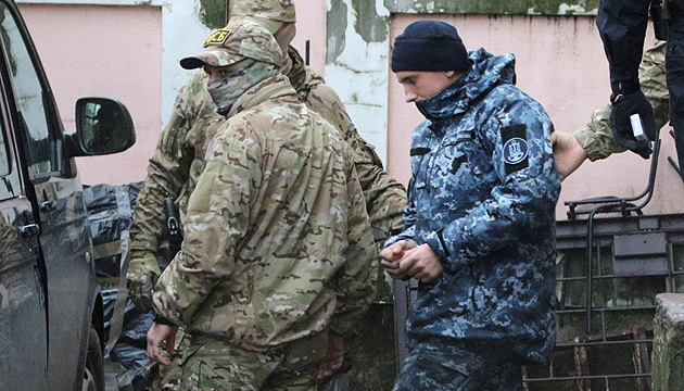 Moscow's court holds hearing on extension of arrest of captured Ukrainian sailors behind closed doors
