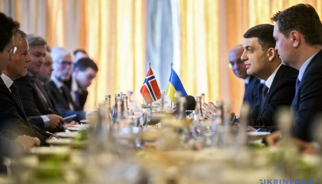 Groysman: Ucrania y Noruega fortalecerán la cooperación económica