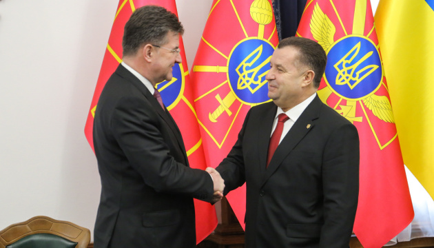 New OSCE chairman arrives in Ukraine, meets with defense minister