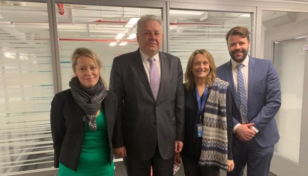 Єльченко обговорив ситуацію на Донбасі з новою президенткою ОКГП ООН Еліс Секві
