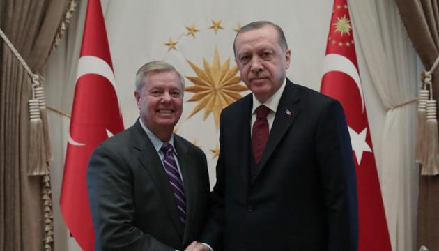 Ердоган і сенатор Грем обговорили створення безпекової зони в Сирії