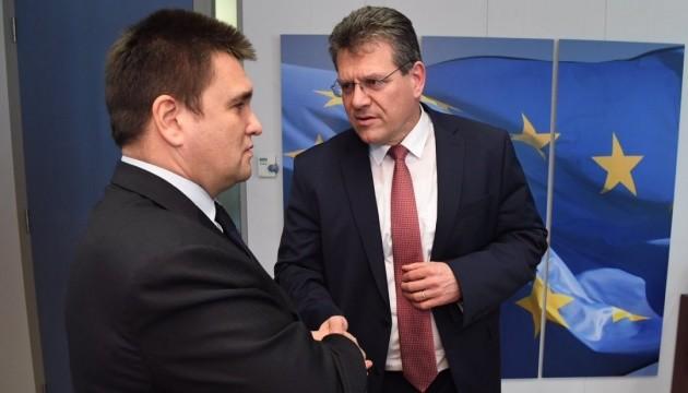 Клімкін і Шефчович проводять зустріч у Брюсселі