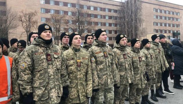 У Харкові 500 кадетів провели флешмоб до Дня Соборності
