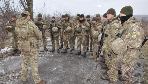 British instructors train Ukrainian marines under operation ORBITAL