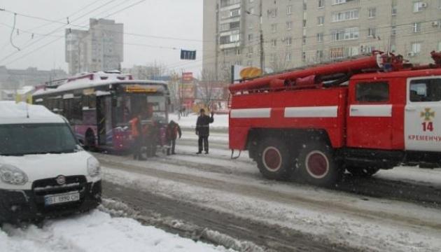 У середмісті Тернополя горів тролейбус
