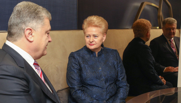 Poroshenko, Grybauskaite discuss threat of Russia's interference in elections