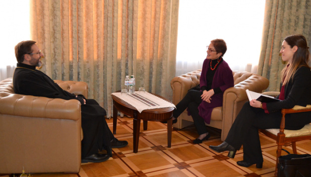 Глава УГКЦ обговорив із Йованович ситуацію в Україні