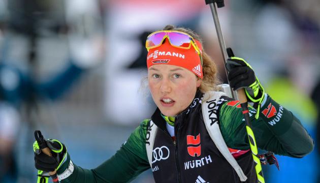 Німкеня Дальмаєр виграла мас-старт на етапі Кубка світу з біатлону в Антхольці