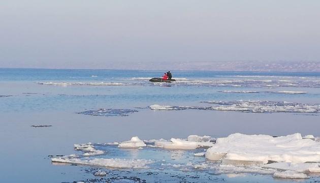 Odesa: Vier Kinder aus Eisscholle gerettet - Fotos