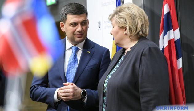 Hrojsman wezwał norweski biznes do inwestowania w ukraińską gospodarkę