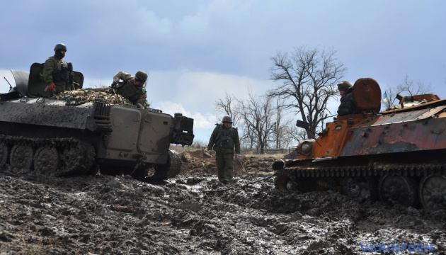 Militants launched 12 attacks on Ukrainian troops in Donbas in last day