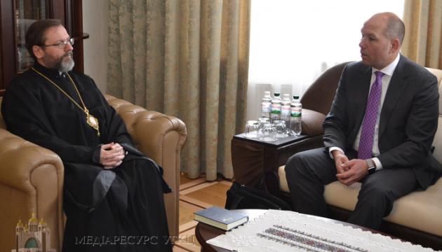 Oberhaupt der Ukrainischen griechisch-katholischen Kirche und Weltkongress der Ukrainer sprechen über Zusammenarbeit
